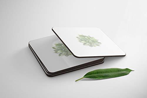 Bonamaison Posavasos - Juego de 4 - MDF Absorbente Premium - 9 x 9 cm (Cada Uno) - Evita Que los Muebles se Ensucien, Derramen, se Rayen - Fabricado en Turquía