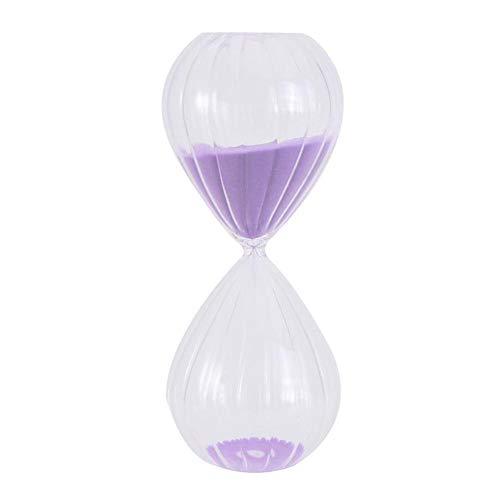 QWSNED Reloj de arena, 1 reloj de arena de 30 minutos, reloj de arena a rayas, accesorios de decoración para el hogar, reloj de arena morado