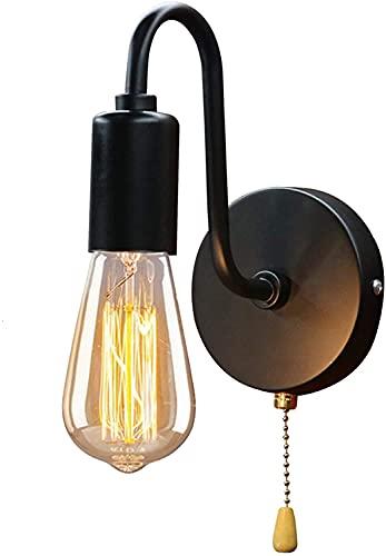 Portalámparas colgante Edison, Sostenedor de la luz de la vendimia,E27 Edison Retro titular de la lámpara de pared con interruptor para uso doméstico y decoración(Bombillas no incluidas)