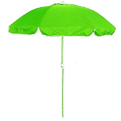 Ombrellone da spiaggia in policotone diam. 200cm, ombrellone mare portatile con custodia con tracolla,ombrellone spiaggia Ø 2M verde mod. Palinuro,ombrellone mare in alluminio con cappuccio antivento