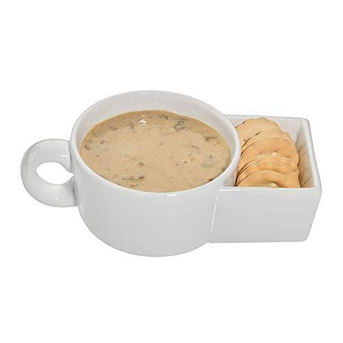 anshoujijing Tazza da caffè con Tasca per Biscotti, Tazza da tè in Ceramica con Porta Biscotti, Tazze da caffè Divertenti, per Bicchieri da Viaggio per Ufficio a Casa C