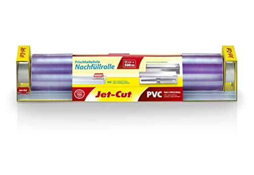 Jet-Cut Rollo de Repuesto para Dispensador de Acero Inoxidable, 45 x 500M, PVC Transparente