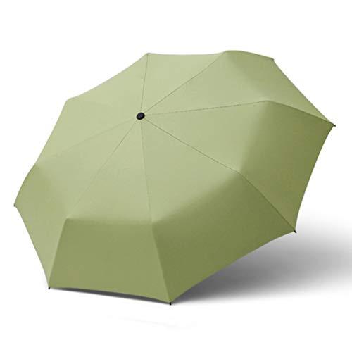 BESPORTBLE 1 Stück 3-Teiliger Faltschirm Sonnenregen Regenschirm mit Doppeltem Verwendungszweck Tragbarer Sonnenschirm UV-Schutzschirm