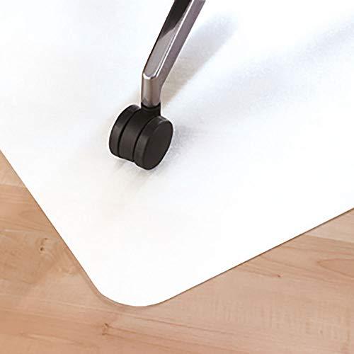 LEVIATAN Fussbodenmatte | Bürostuhl Unterlage Universell | Bodenschutzmatte Bürostuhl Weiss | Unterlage Schreibtischstuhl 1200x900mm