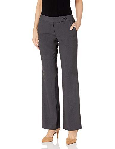 Calvin Klein Women's Classic Fit Straight Leg Suit Pant, Charcoal, 2