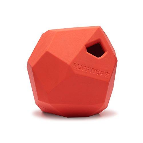 Ruffwear Kaufestes Hundespielzeug aus Gummi, Futter und Leckerli Aufbewahrung, One Size, Rot (Sockeye Red), Gnawt-a-Rock