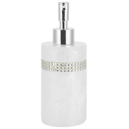 Dispenser della Lozione, Bottiglia di Gel Doccia, 300ml Bianco Innovativo Innovativo Resina Sapone Lozione Bottiglia di Lozione Distributore per Docglio Doccia Lavaggio A Mano