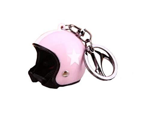Familienkalender offener Helm ohne Visier Schlüsselanhänger mit Stern, rosa Moped   Motorrad   Velo   Geschenk   Sicherheitshelm   Schutzhelm   rosa