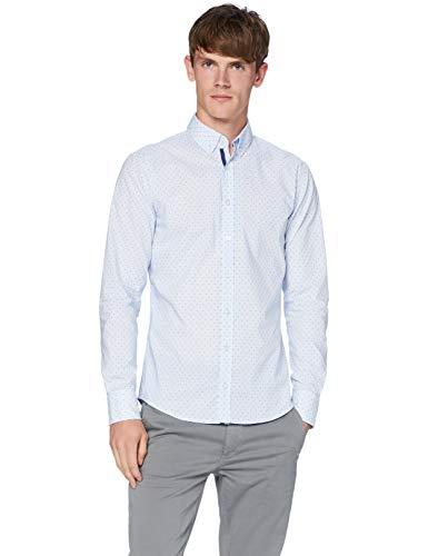 BOSS Mabsoot Camicia, Blu (Open Blue 460), Small Uomo