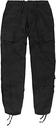 normani Rip Stop Rangerhose mit 2 Cargo Beintaschen und verstärktem Knie und Gesäß Farbe Schwarz Größe XXL