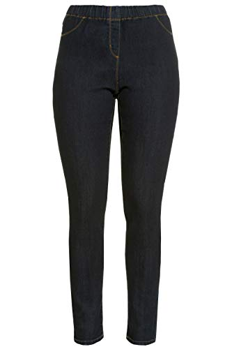 GINA LAURA Damen bis 50, Jeggings Julia, Knöchel-Länge, Slim-Fit, Elastik-Bund, Stretch-Denim, darkblue 46 182202 93-46