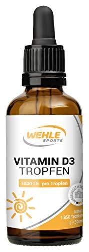 mächtig der welt Hochdosierte Vitamin D3-Tropfen – 1000 IE Depot-Vitamin D pro 50 ml Tropfen (1850 Tropfen) -…