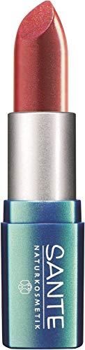 SANTE Naturkosmetik Lipstick No. 21 coral pink, Lippenstift, Transparente bis intensive Farben, Zart pflegend & sanft schützend, 4,5g