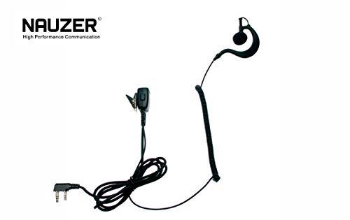 PIN-29-K Pinganillo profesional Nauzer con Micro-Auricular para Walkie Talkie KENWOOD conector 2 pins