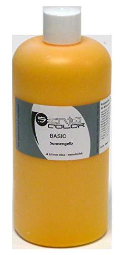 Senjo Color Basic Bodypainting Farben I Kosmetische Körperfarbe wasserlöslich | Liquid für Airbrush und Pinsel I 500ml Sonnengelb