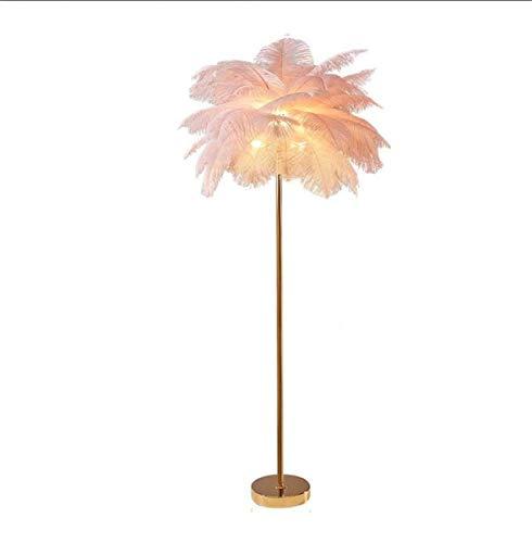 XFXDBT Luz de noche para dormitorio nórdico romántica chica dormitorio mesita de noche lámpara sala de estudio pluma decoración lámpara [clase energética A++]