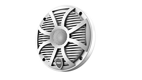 Wet Sounds REVO 6-SWW White Closed SW Grille 6.5 Inch Marine LED Coaxial Speakers (Pair)