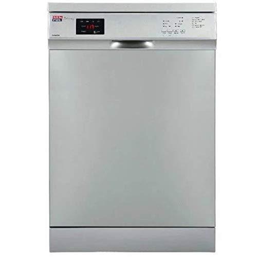 Lavavajillas Libre Instalación - New Pol NW3605DX, 13 servicios, 3ª Bandeja, 49dB, 45 cm, Eficiencia A++, Inox