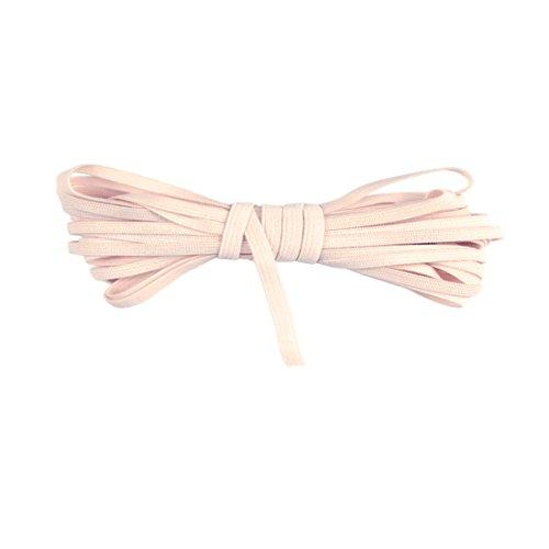 DIY PARK 5 Yard 4mm Solid Skinny Elastic Spandex Band Lace Baby Headband Sewing Trim DIY Craft(Pink Champagne/Nude)