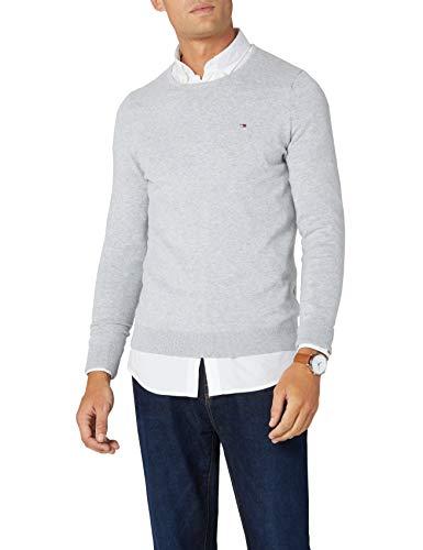 Tommy Hilfiger Original cn Sweater l/s Suéter, Gris (LT GREY HTR 038), M para Hombre