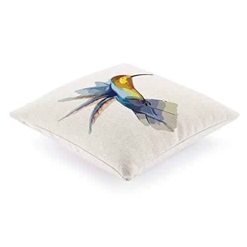 DKE&YMQ Gastrodia - Funda de almohada para cama individual, diseo de pico de pjaro, color azul