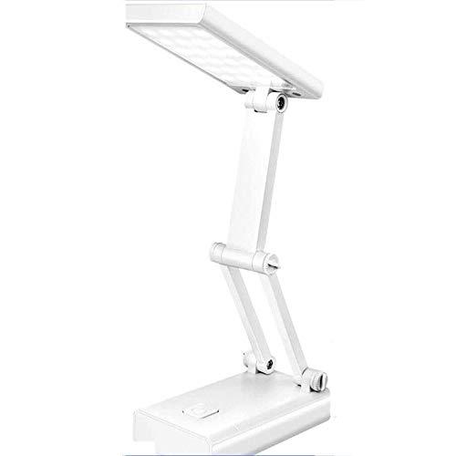 Wotbxchbbtde De intensidad regulable plegable lámpara de mesa - puerto de carga USB, recargable, Ojo-cuidado lámparas de mesa, lámpara de mesa simple, LED moderna lámpara de escritorio, lectura, estud