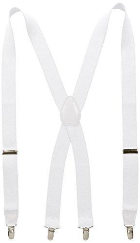 Wembley Herren Strapsstrumpfhose, 32 mm - Weiß - Einheitsgröße