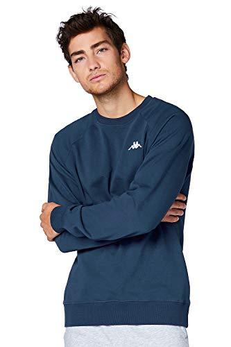 Kappa VAUKE sweatshirt I Unisex trui van katoen I Basic voor sport en vrije tijd I sweater voor vrouwen en mannen | in de kleuren blauw, grijs, zwart en maten S, M, L, XL, XXL en XXXL