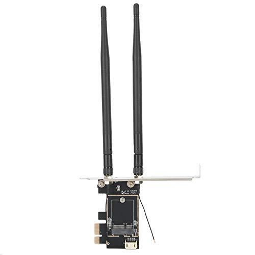Socobeta Adaptador de Tarjeta de Red inalámbrica Estable Tarjeta adaptadora con Antena Fácil de almacenar Durable Resistente para computadora portátil