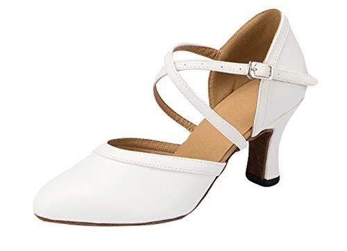 Insun Mujer Zapatos de Baile Latino de Tacón Sandalias de Baile de Salsa para Fiestas de Salón de Baile