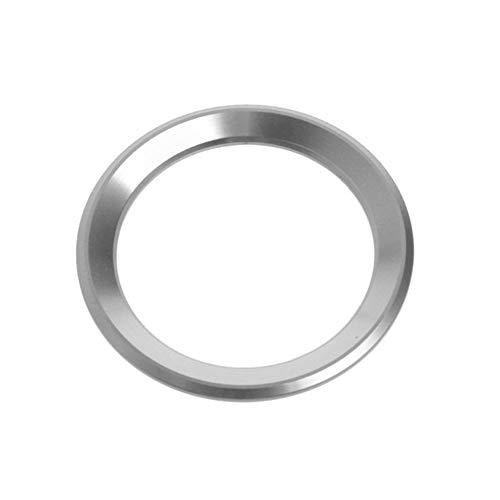 YJSZJY Etiqueta engomada del círculo del Volante, Etiqueta engomada del círculo de la decoración del Volante del Coche para X1 E60 E36 E39 E46 E30,Plata