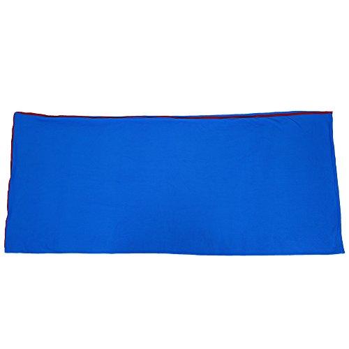 Eastbuy Saco de Dormir - Saco de Dormir de vellón con Cremallera y Estilo de sobre portátil para Viajes de Campamento(Azul)