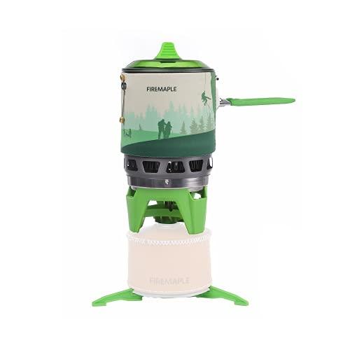 Fire-Maple Fixed Star 3 Mini Sistema de Cocina Estufa de Camping Gas para Acampar Portatil con Encendido Piezoeléctrico Hornillo Camping Propano Ideal para Mochileros, Campamentos, Viajes