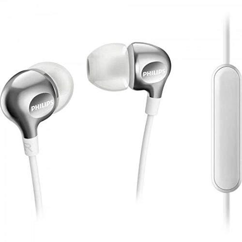 Philips SHE3705WT In-Ear Kopfhörer mit Mikrofon (satte Bässe, verstärkte Kabel, perfekter Sitz) weiß