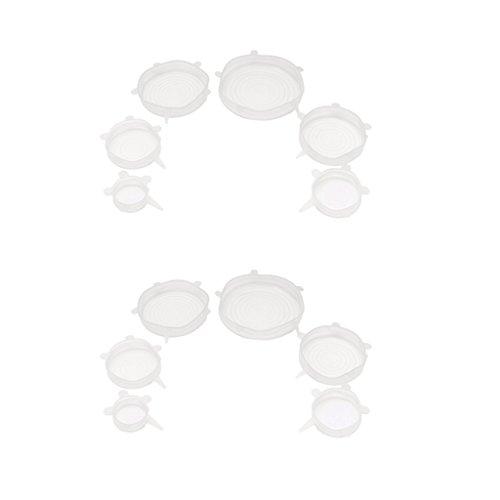 Homyl Paquet de 12x Couvercles en Silicone Wraps Seal Bol Rangement pour la cuisine