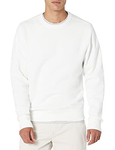 Amazon Essentials Crewneck Fleece Sweatshirt Sudadera, Off White, M