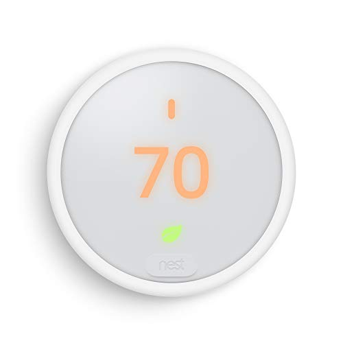 Google Nest Thermostat E - Programmable Smart Thermostat for Home - 3rd Generation Nest Thermostat - Works with Alexa