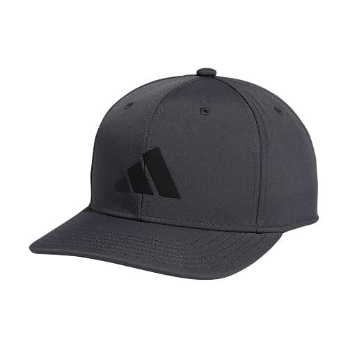 adidas Men's Three Bar Structured Snapback Adjustable Fit Cap, Grey Six/Black, One Size