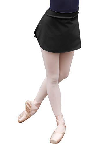 Daydance Black Women Dance Skirt Pull On Bullet Point Ballet Skirt