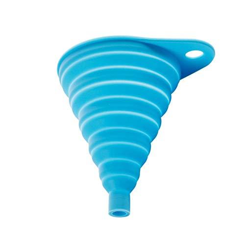 Wuyanse 1 Unids Silicona Plegable Funnel Kitchen Liquid