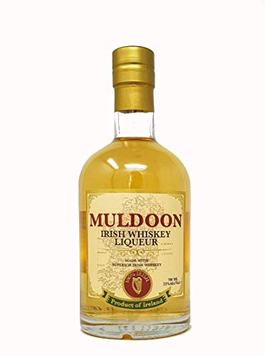 Muldoon Irish Whisky Liqueur met aangename toffee - hazelnoot smaak 25,0% 0.7l