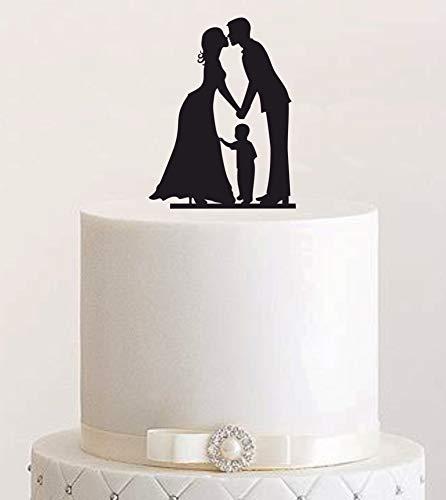 Cake Topper #23 Acryl, Tortenstecker, Tortenfigur, Hochzeitstorte … (Schwarz) Art.Nr. 5108