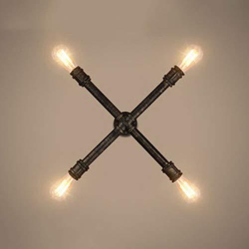 YFAZTS Amerikanische Punk-Wandleuchte Retro Lampe Eisen Wasserrohrwandlampe kreative Persönlichkeit Loft Wandleuchte bar Wasserrohrwand,Bronzer