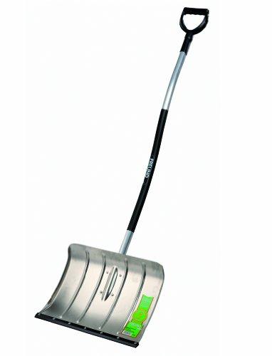 Freund 2000528 Ergo Aluminium-Schneeschieber 50 cm mit Thermoflexkunstoffkante und ergonomischen Aluminiumstiel 130 cm mit D-Griff