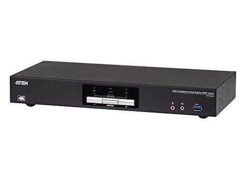 Aten CS1942DP 2-Port USB 3.0 KVM-Switch, 4K DP Schwarz