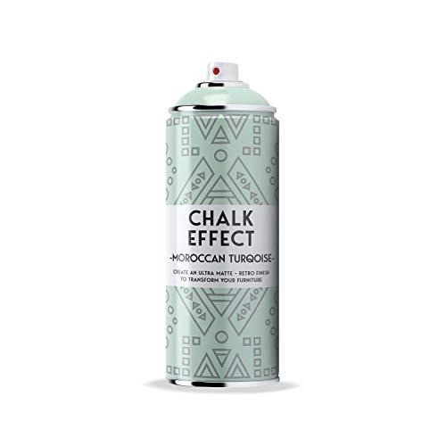 COSMOS LAC Chalk Effect Spray - Hochwertige Kreide-Sprühfarbe - perfekt für DIY Projekte (Moroccan turqoise)