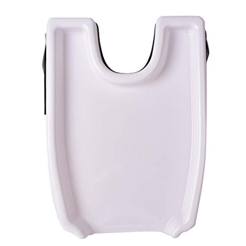Huante - Lavacabezas de lavabo, color blanco, bandeja de seguridad contorneada, fácil de lavar para el tratamiento de peluquería, herramienta portátil para lavar el cabello