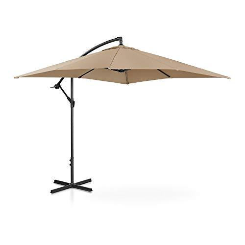 Uniprodo Ampelschirm Uni_Umbrella_SQ250TA Gartenschirm (rechteckig, 250 x 250 cm, neigbar, Taupe)