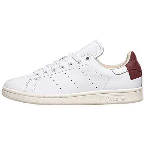 Adidas Stan Smith EE5784 Cloud White Burgundy (US 7 - Burgundy)
