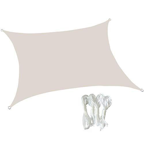Dalovy Garden Square 3.6X3.6M Sun Shade Sail Sunscreen Resistente Al Agua Toldo Toldo Refugio 98% UV Block Sun Sail para Fiestas En El Patio Al Aire Libre, Blanco, 3.6X3.6M
